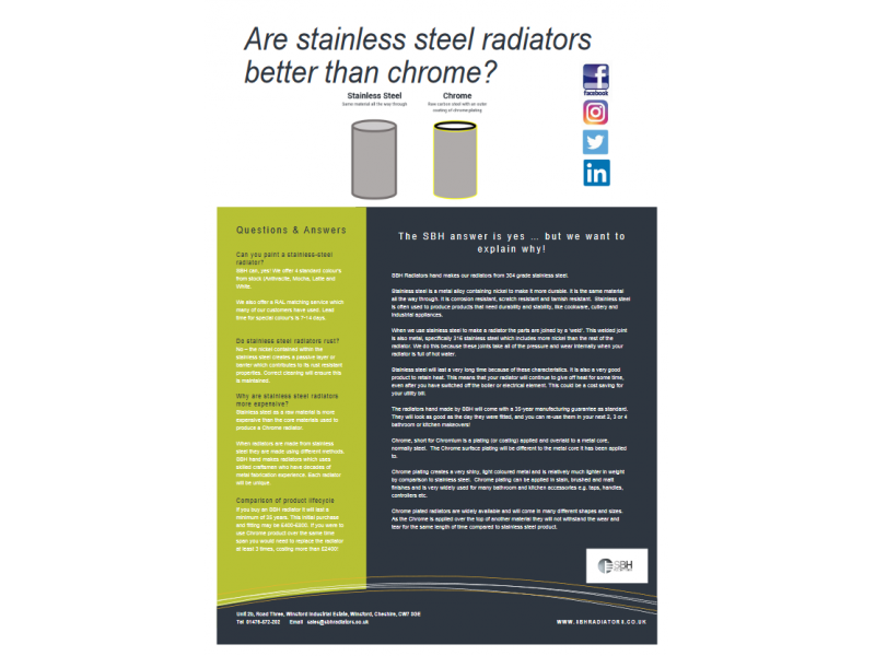 Are Stainless Steel Radiators better than Chrome
